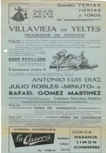 Julio Robles cartel de Villavieja