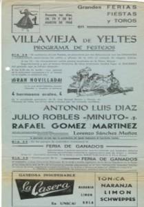 Julio Robles cartel de Villavieja